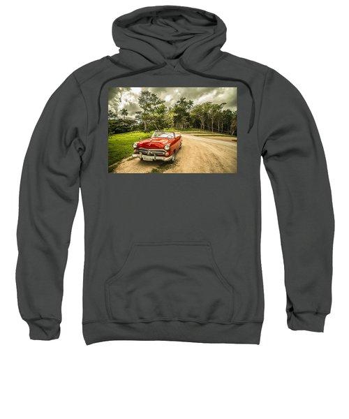 Red Vintage Car Sweatshirt