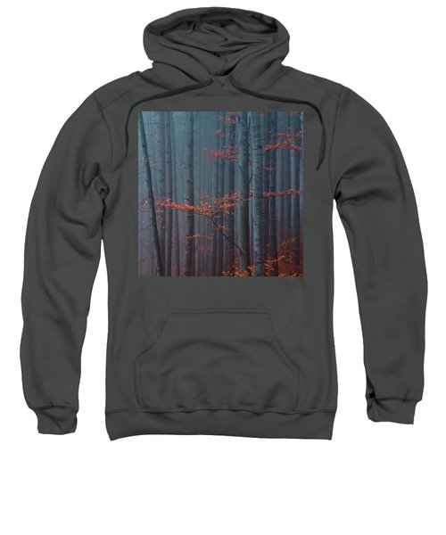 Sweatshirt featuring the photograph Red Wood by Evgeni Dinev