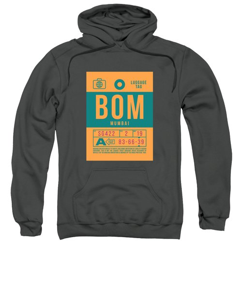 Retro Airline Luggage Tag 2.0 - Bom Mumbai India Sweatshirt