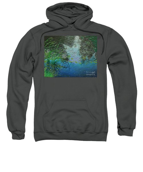 River ...ripples And Reeds Sweatshirt