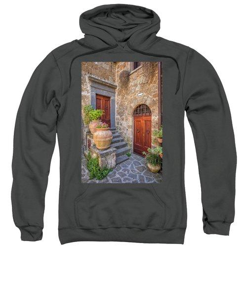 Romantic Courtyard Of Tuscany Sweatshirt