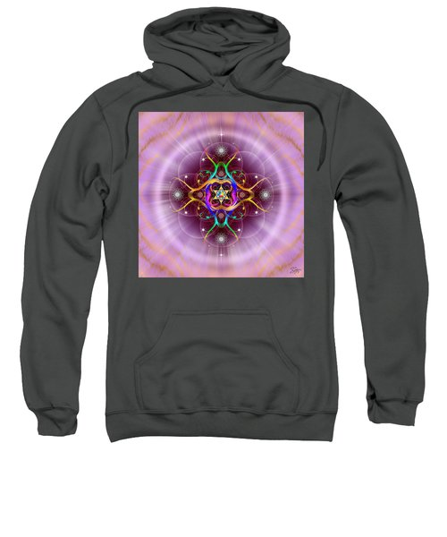 Sweatshirt featuring the digital art Sacred Geometry 757 by Endre Balogh
