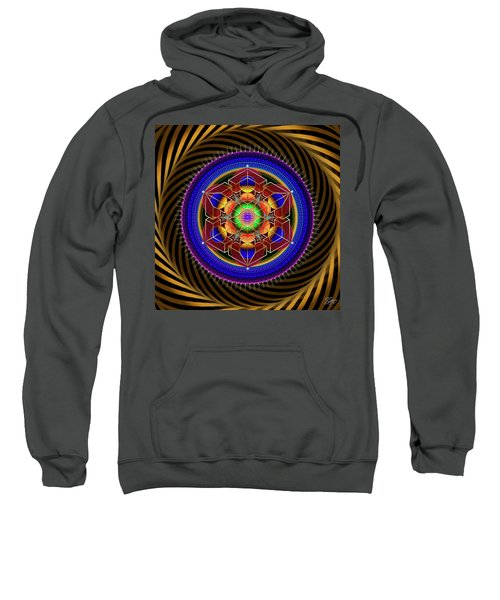 Sweatshirt featuring the digital art Sacred Geometry 763 by Endre Balogh