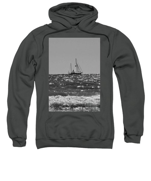 Sailboat In Black And White Sweatshirt