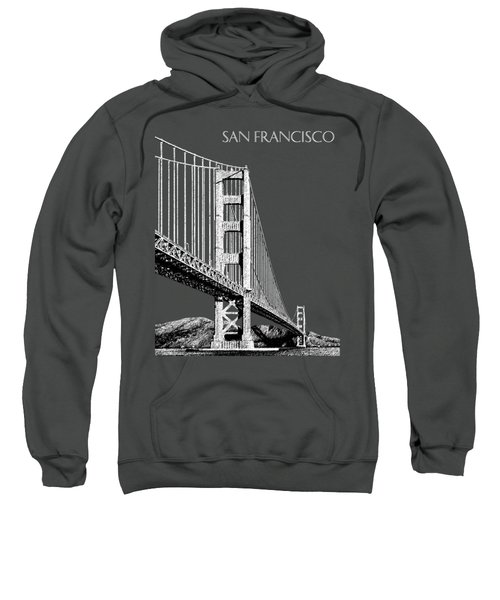 San Francisco Skyline Golden Gate Bridge 2 - Slate Blue Sweatshirt