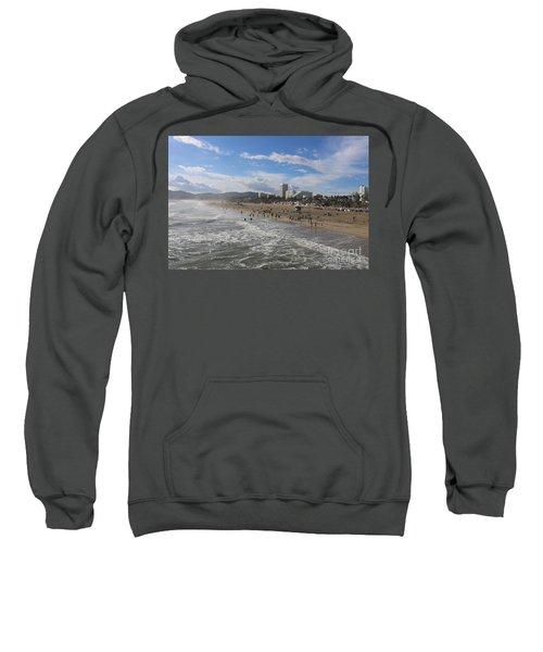 Santa Monica Beach , Santa Monica, California Sweatshirt