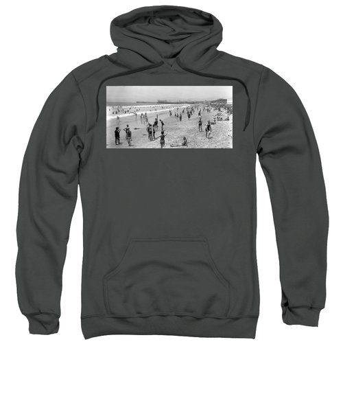 Santa Monica Beach Circa 1920 Sweatshirt