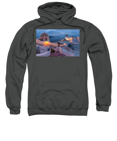 Sweatshirt featuring the photograph Santorini by Evgeni Dinev