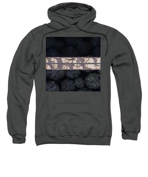 Sea Urchin Contrast Obi Print Sweatshirt