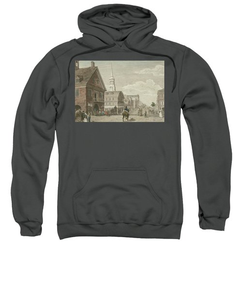 Second Street North From Market St. And Christ Church Sweatshirt