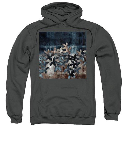 Shibori Leaves Indigo Print Sweatshirt