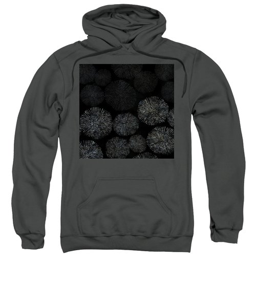 Shibori Sea Urchin Burst Pattern Sweatshirt