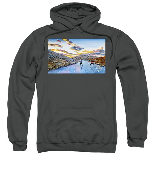 Shinny At Rock Pool Pond Sweatshirt