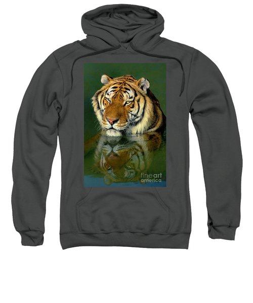 Siberian Tiger Reflection Wildlife Rescue Sweatshirt
