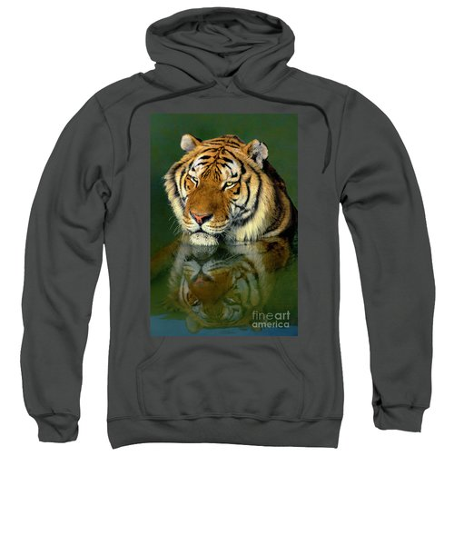 Siberian Tiger Reflection Wildlife Rescue Sweatshirt