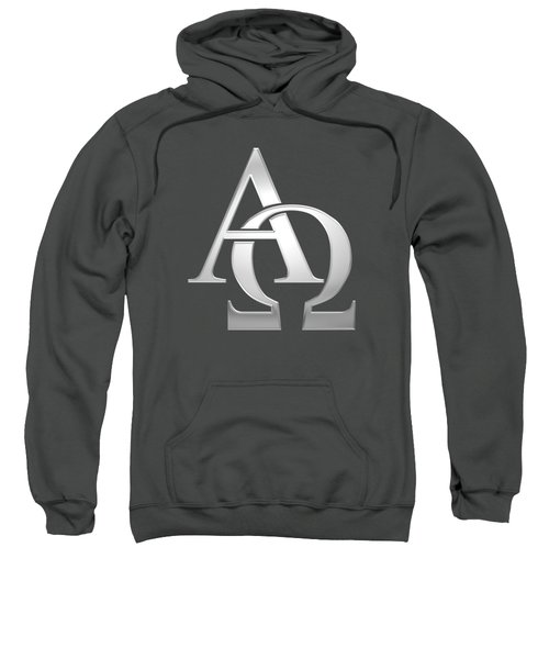 Silver Alpha And Omega Symbol Sweatshirt