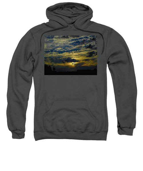 Silver, Blue And Gold Sweatshirt