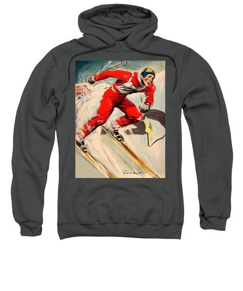 Skier On The Run Sweatshirt
