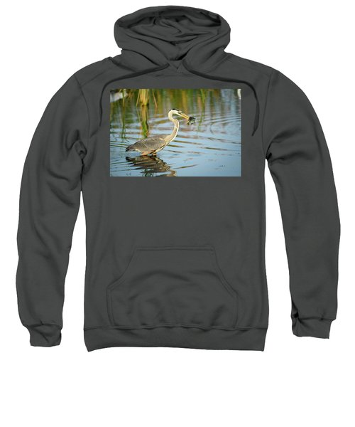 Snack Time For Blue Heron Sweatshirt
