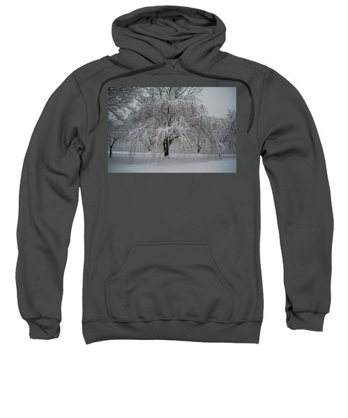Snow And Mist By The River Sweatshirt