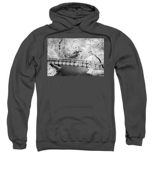 Snowy Bridge On Mill Creek Sweatshirt