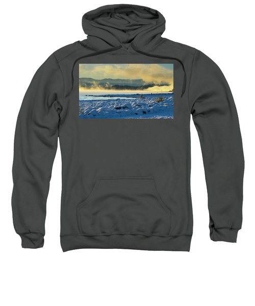 Snowy Shoreline Sunrise Sweatshirt