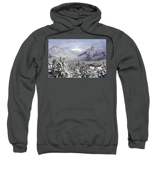 Spring Snow In Estes Park Colorado Sweatshirt