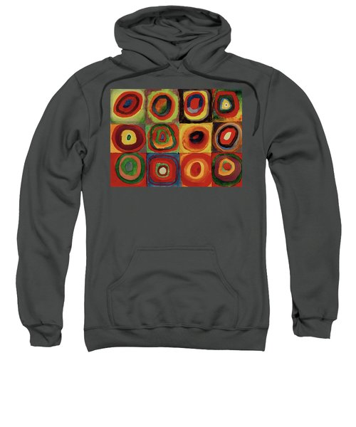 Squares With Concentric Circles 1913  Sweatshirt
