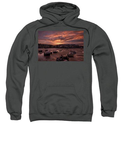 St Ives Cornwall - Harbour Sunset Sweatshirt
