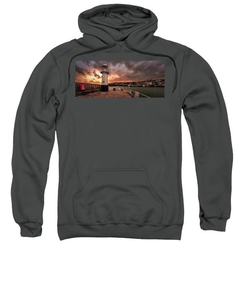 St Ives Cornwall - Lighthouse Sunset Sweatshirt