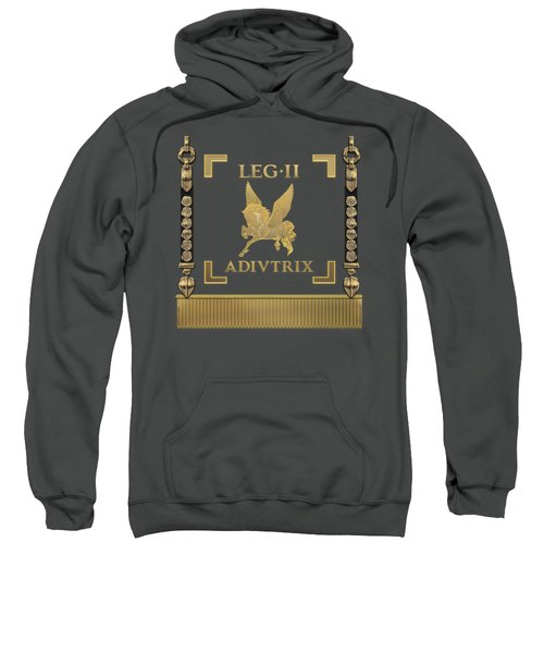 Standard Of Rescuer Second Legion - Vexillum Of Legio II Adiutrix Sweatshirt