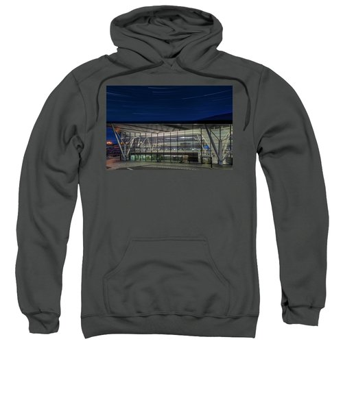 Star Trails Over Gdansk Aiport Sweatshirt