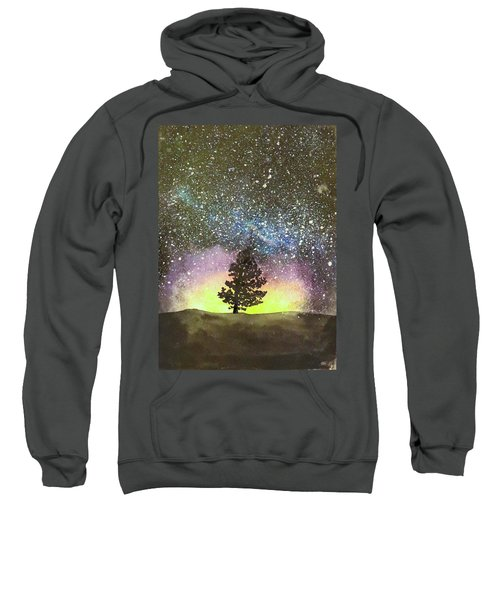 Starry Sky Above The Mountains Sweatshirt