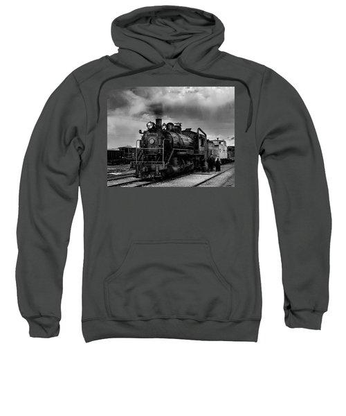 Steam Locomotive In Black And White 1 Sweatshirt