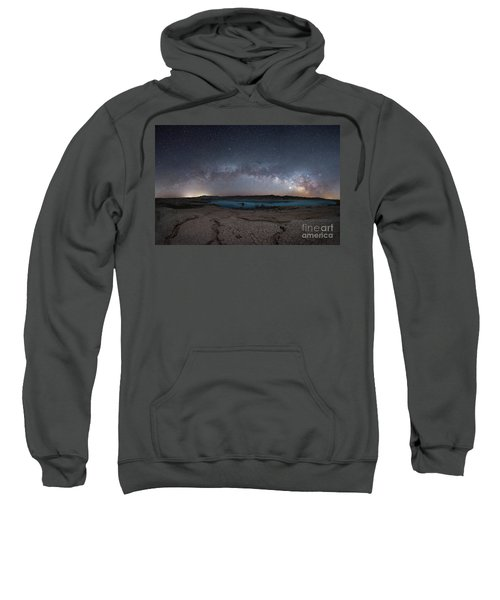 Stewarts Point Milky Way Pano  Sweatshirt