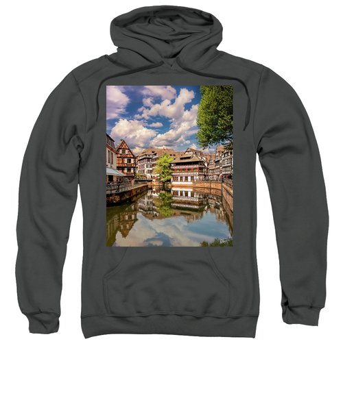 Sweatshirt featuring the photograph Strasbourg Center by Endre Balogh