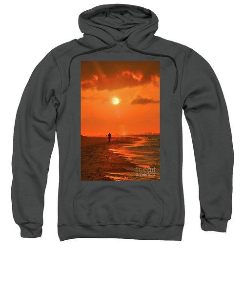 Sunrise Walk On Sanibel Island Sweatshirt