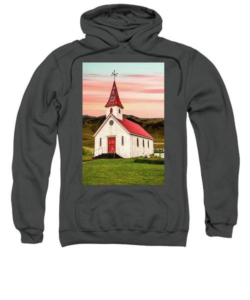 Sunset Chapel Of Iceland Sweatshirt