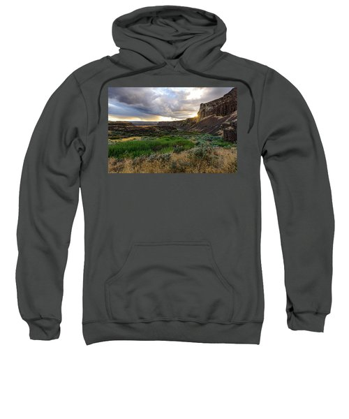 Sunset In The Ancient Lakes Sweatshirt