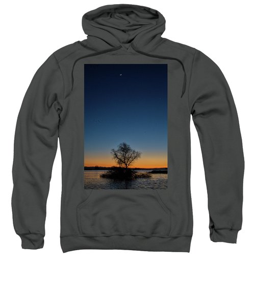 Sunset In The Refuge With Moon Sweatshirt