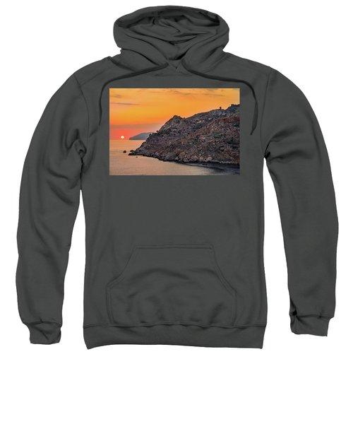 Sunset Near Cape Tainaron Sweatshirt
