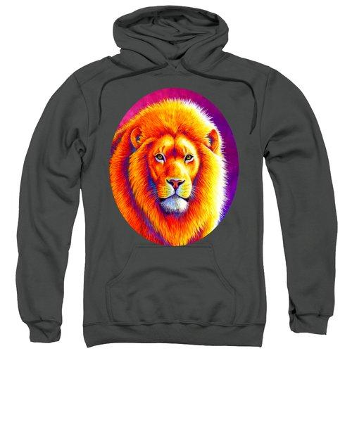 Sunset On The Savanna - African Lion Sweatshirt