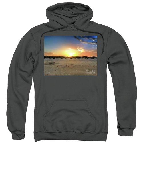 Sunset Over N Padre Island Beach Sweatshirt