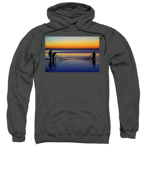 Sunset Seining On Copano Bay Sweatshirt