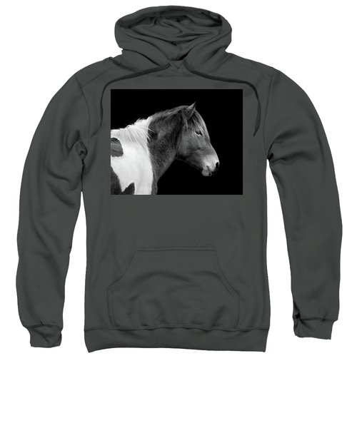 Susi Sole Portrait In Black And White Sweatshirt