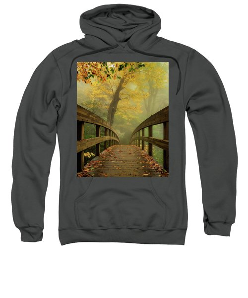 Tanawha Trail Blue Ridge Parkway - Foggy Autumn Sweatshirt