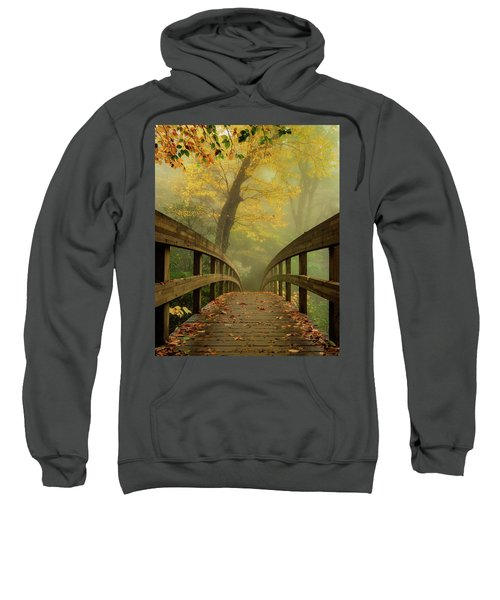 Tanawha Trail Blue Ridge Parkway - Foggy Autumn Sweatshirt