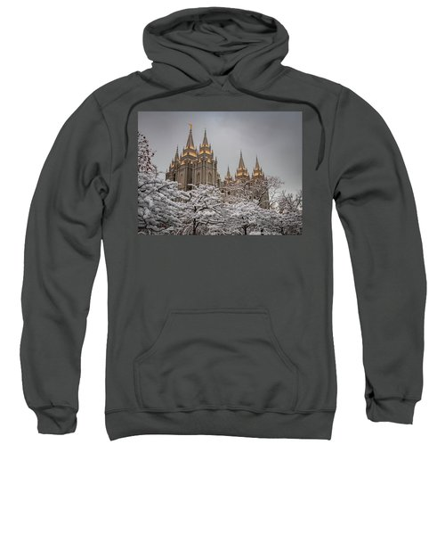 Temple In The Snow Sweatshirt