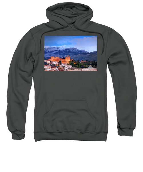 The Alhambra, Albaicin, At Blue Hour Sweatshirt