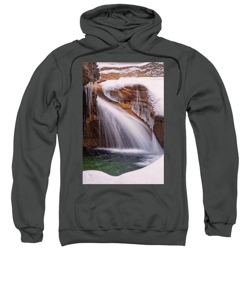 The Basin, Close Up In A Winter Storm Sweatshirt